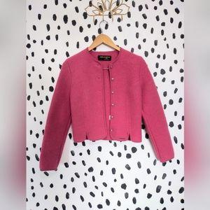 Geiger vintage boiled wool pink jacket